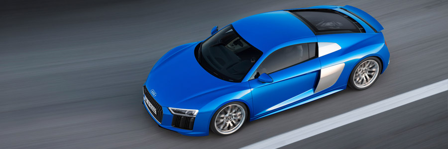 audi r8 v10 blue wallpaper