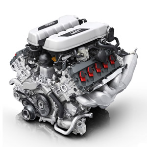 audi r8 v10 engine illustration wallpaper