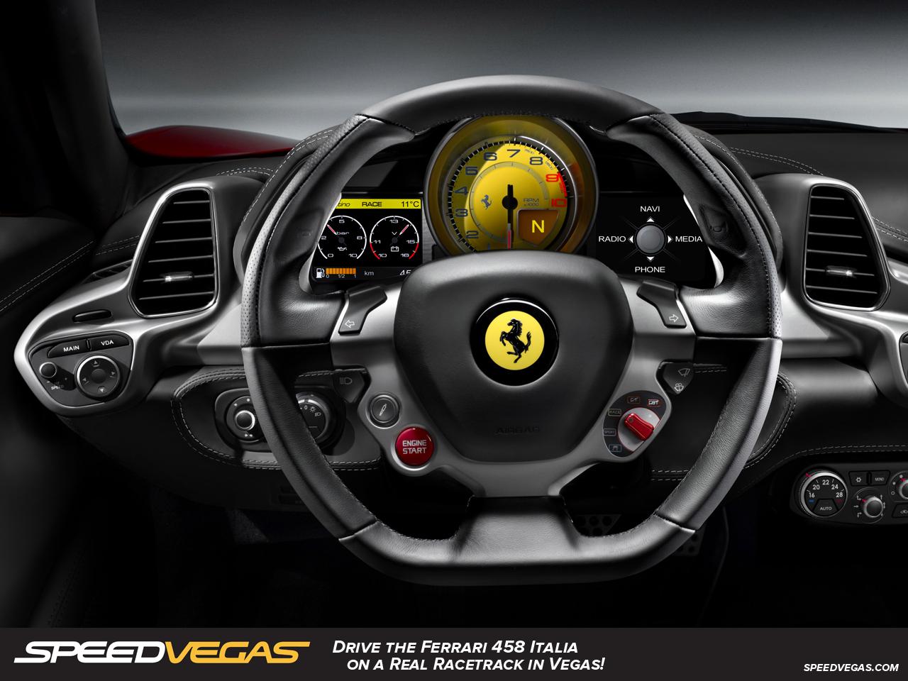 drive a ferrari 458 italia in las vegas ferrari driving experience speedvegas. Black Bedroom Furniture Sets. Home Design Ideas