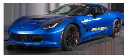 guida una Corvette a las vegas
