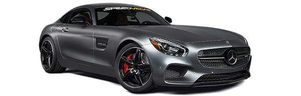 race Mercedes AMG GT-S in las vegas racetrack