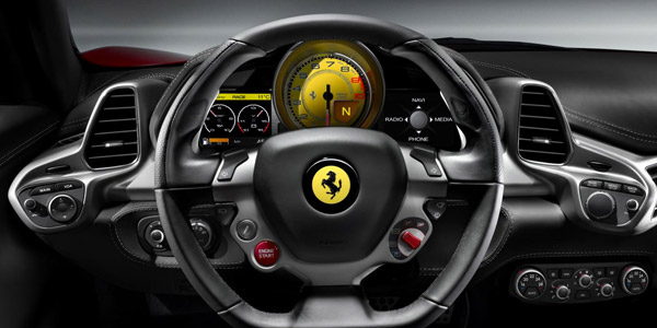 ferrari 458 italia steering wheel wallpaper
