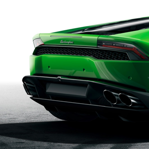 lamborghini huracan green rear