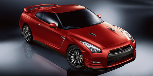 red 2016 nissan gtr sports car