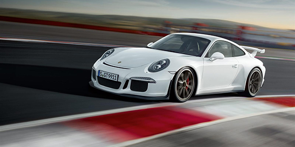porsche 911 gt3 on racetrack