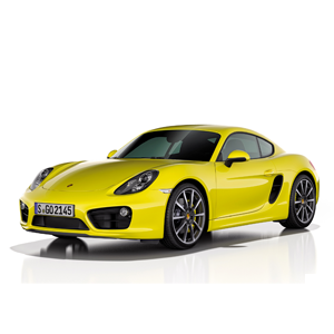 porsche cayman front yellow