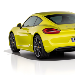 porsche cayman side rear
