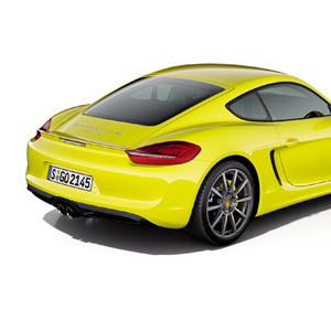 porsche cayman racetrack yellow