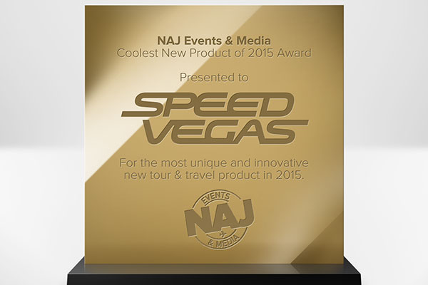 "SPEEDVEGAS Scores ""Coolest New Travel Product"" Award"