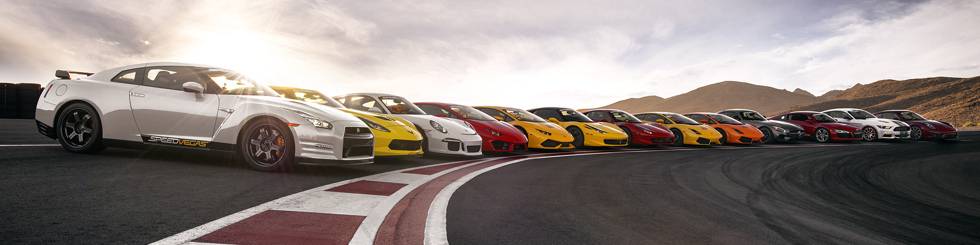 Howie D. from Backstreet Boys drove five exhilarating laps around SPEEDVEGAS' 1.5-mile Formula One-inspired track in a Ferrari 458 Italia. He reached a top speed of 131 MPH.