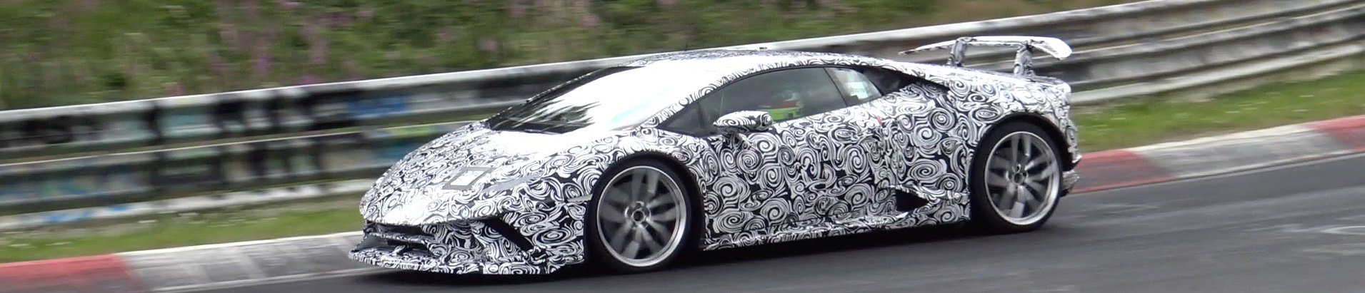 All of the rumors that a lighter and presumably faster Lamborghini Huracan was in the works proved true when a recent video surfaced that were taken at the famed Nurburgring showing a heavily camouflaged Lamborghini Superleggera taking in some laps. The Superleggera is a stripped-down version of the production car that normally also sees improvements made to the suspension and other aspects of the exotic that help to create a more track friendly experience.