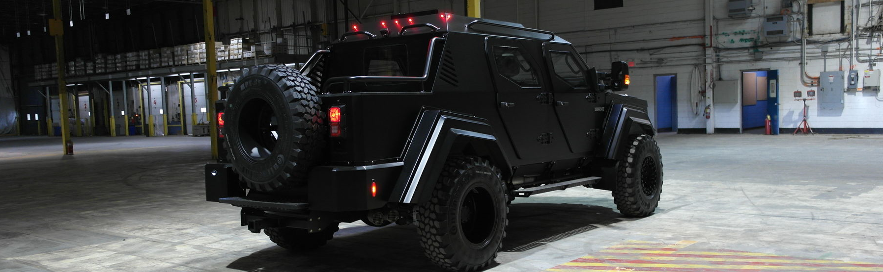 Major League Pitcher A.J. Burnett announced that his fully-armored 2016 Terradyne Gurkha RPV is for sale. Every example of the Gurkha is custom made with no two examples being the same. Burnett's 2016 Terradyne is equipped with shift-on-the-fly 4WD, a vast array of LED light bars and remote controlled spotlights. There is even an external PA speaker to get the attention of any driver that has failed to notice the 20,000 lb vehicle driving up behind them.