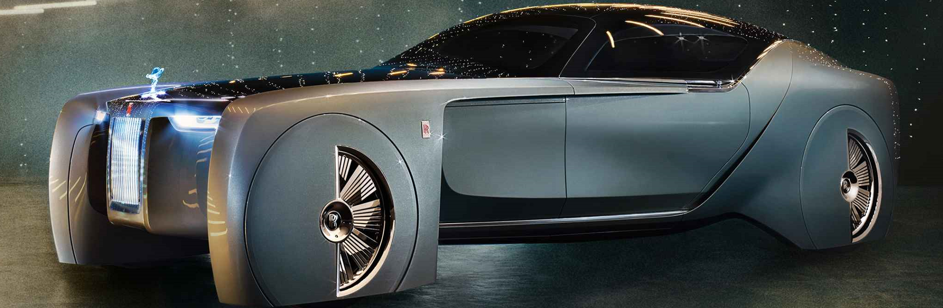 Rolls-Royce has created one of the most bizarre and futuristic looking concepts ever produced by the now German automaker. The Vision Next 100 is a luxury trike that displays large wheel covers and plenty of carbon fiber accents. The concept is long and sleek with a total length of 19.3 feet. Massive air channels can be seen running behind the front wheels that help to provide this front-trike of sorts with a space-age appearance that is unmatched by any other project currently being designed.