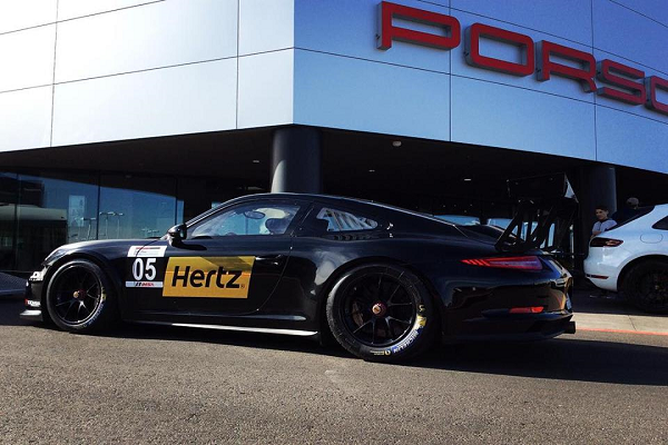 Gaudin Porsche Showcases 911 GT3 Cup car at SPEEDVEGAS