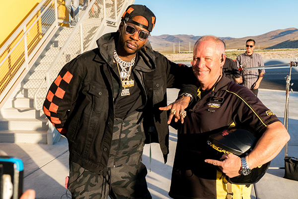 2 Chainz Drives a Lamborghini Huracan at SPEEDVEGAS