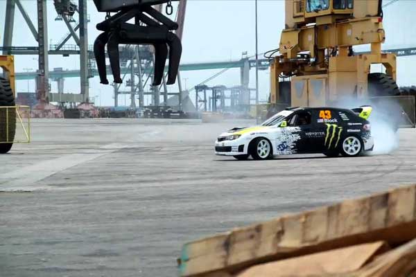 Ken Block tears up LA in 845-hp Mustang