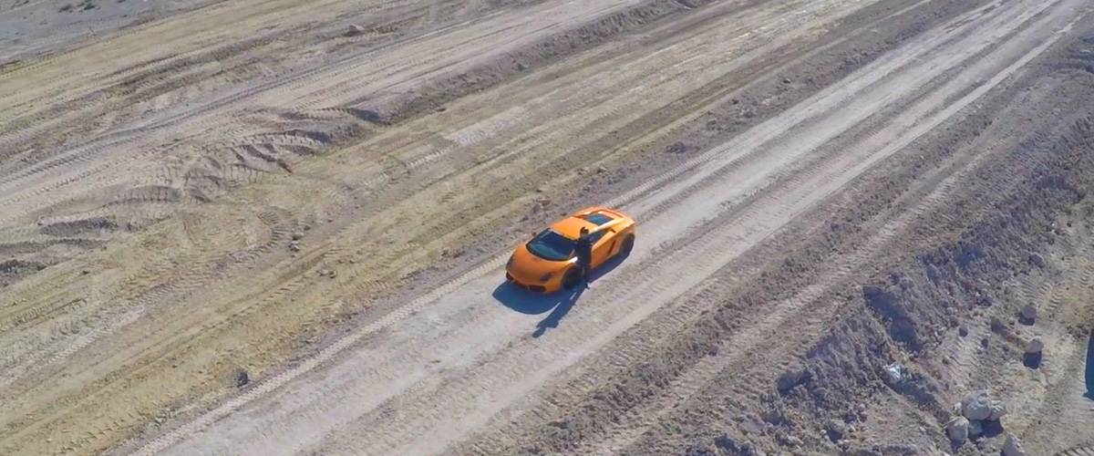Construction on the new SPEEDVEGAS exotic car racetrack in Las Vegas continues in anticipation of the opening in March 2016. That wasn't soon enough for this Lamborghini driver. He's ready: are you?
