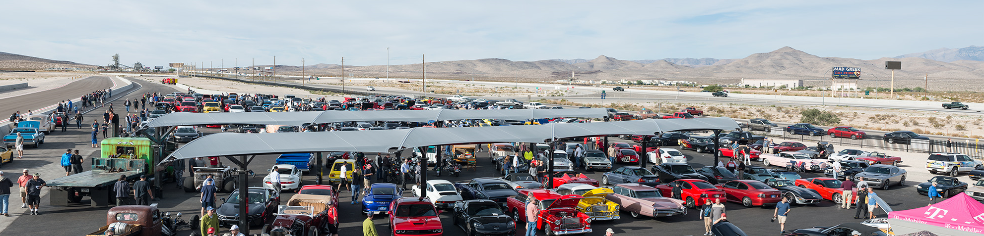 Hundreds of automotive enthusiasts from all over the Las Vegas valley and tourists from around the world gathered this weekend to celebrate the debut of Cars and Coffee at SPEEDVEGAS. Every Saturday morning between 7:00 a.m. – 10:00 a.m. proud collector car owners and fans converge to showcase their exotic, vintage, and muscle cars along with motorcycles, concepts and hotrods. Several hundred cars are typically on display every weekend with examples from some of the biggest names in automotive to include Ferrari, Audi, Porsche, Chevrolet and Dodge.