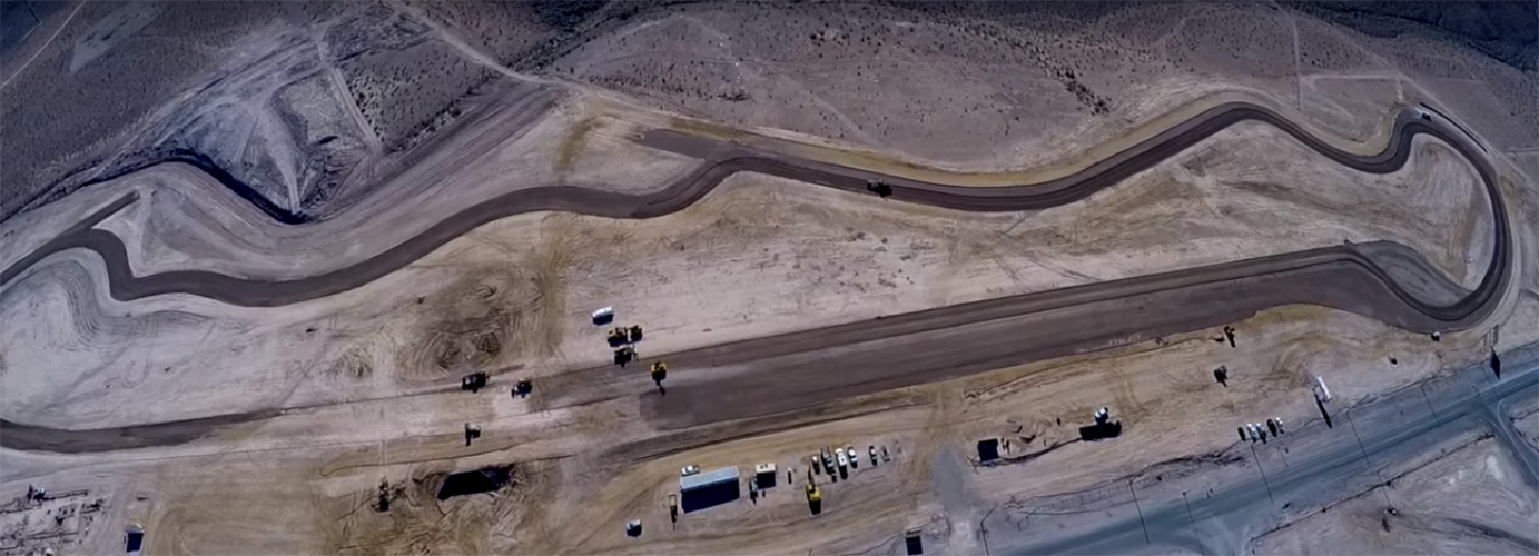 ​SPEEDVEGAS is proud to announce that final grading has been completed on our 1.5 mile track located just minutes from the heart of the Las Vegas Strip. This is the final step to take place before laying the asphalt.