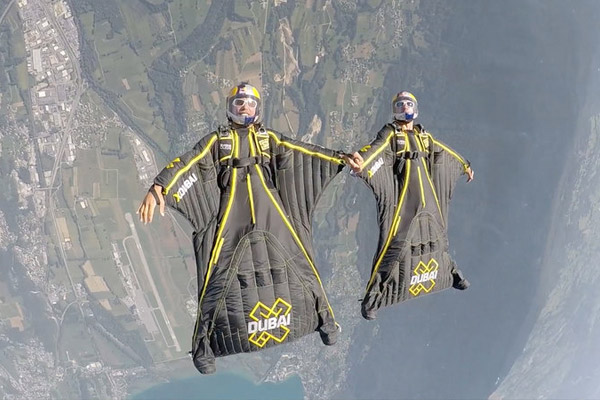 Experience a 'Top Gun' move in wingsuits