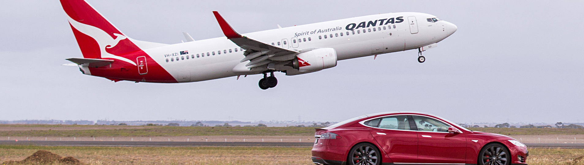 Just when you think that you have seen it all. Tesla's performance flagship vehicle, the Model S P90D, was recently matched up against a Boeing 737 to create a very unlikely drag race. Being that we have already watched the Model S take on some of the fastest and most luxurious supercars on the planet, it only seemed natural for the Model to seek out less traditional competition. Australian airliner Qantas and Telsa are working together to create cleaner emissions and improve technical performance. This less-than-likely drag race was recently filmed in Melbourne, Australia as a promotional video to highlight the technical collaboration between the two companies.