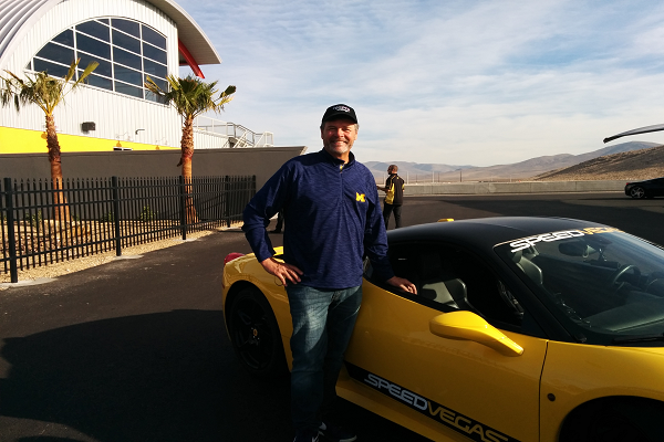 NASCAR Superstar Michael Waltrip Hits the Track at SPEEDVEGAS