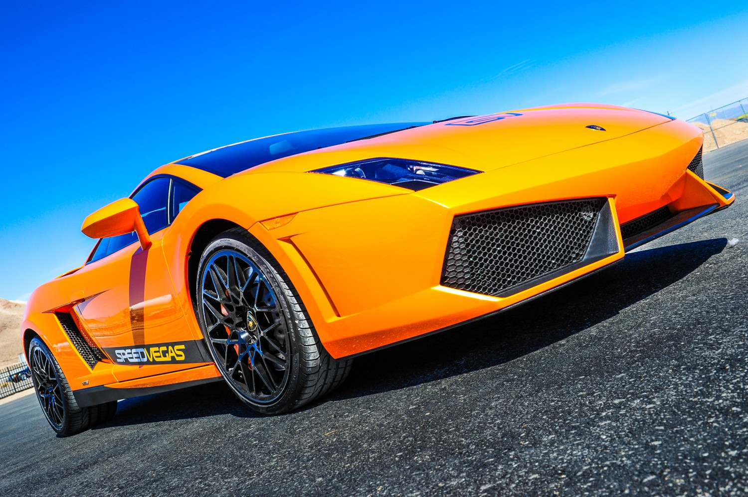 Drive a Lamborghini on track in Vegas  SPEEDVEGAS