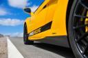 lamborghini huracan yellow racetrack